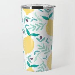 Lemon & Blueberry Pastel Travel Mug
