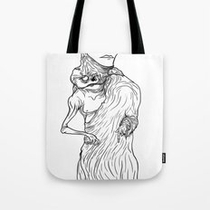 The King of Flesh (Black and White) Tote Bag