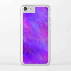 Blue Violet Color Clear iPhone Case