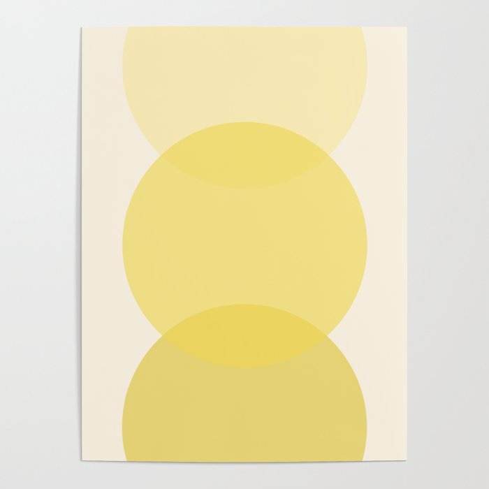 Golden Sunshine Circle Gradient Poster