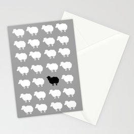 Black sheep Stationery Cards