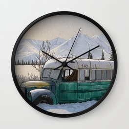 Into the Wild Fairbanks Bus Wall Clock