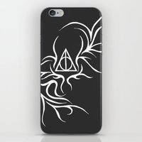 deathly hallows iPhone & iPod Skins featuring Deathly Hallows - inverted by Ria-Ra