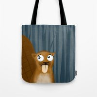 beaver Tote Bags featuring Beaver by makoshark