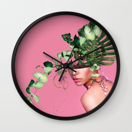 Lady Flowers VI Wall Clock