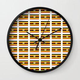 Flag of Uganda – Ugandan,ugandes,Kampala,Kyoga,Turkana. Wall Clock