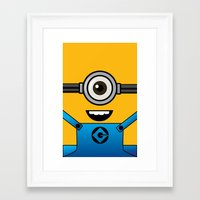 minion Framed Art Prints featuring MINION! by Dee9922