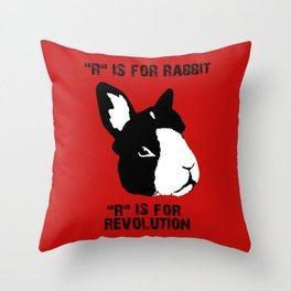 """""""R"""" IS FOR Throw Pillow"""