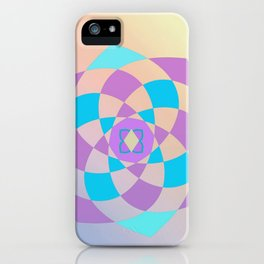 Mandal color wheel iPhone Case