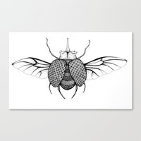 beetle Canvas Prints featuring Beetle by Freja Friborg