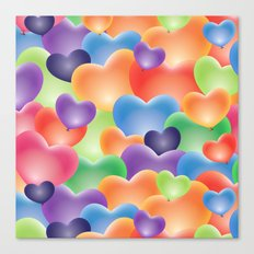 Valentine Balloon Hearts Canvas Print