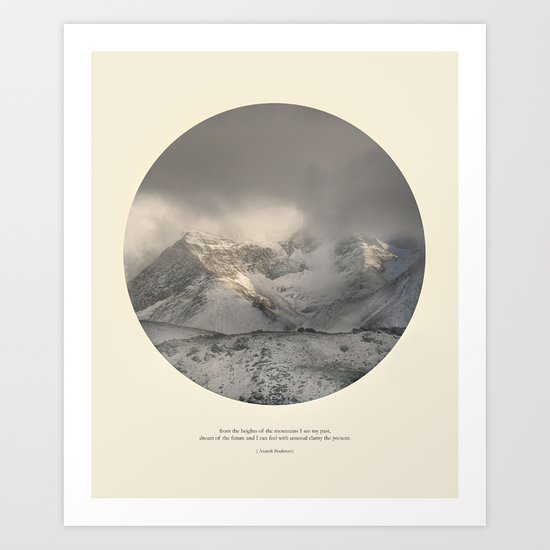 love the mountains... Art Print