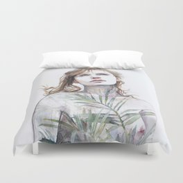 Breathe in, breathe out Duvet Cover