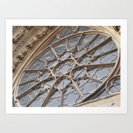 Reims Cathedral Window Art Print