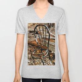 Abandoned Steel Fan Chair Unisex V-Neck