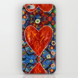 Abstract Painted Heart iPhone Skin