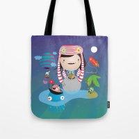 imagine Tote Bags featuring Imagine  by Maria Jose Da Luz