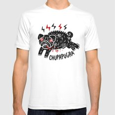 Chupapugra White Mens Fitted Tee MEDIUM