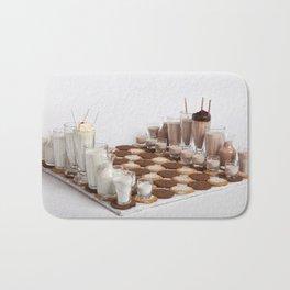 Cookies and Milk Chess Set Bath Mat
