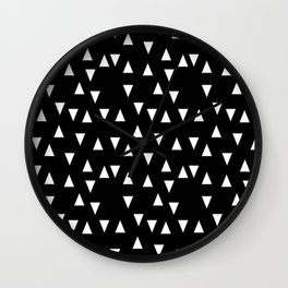 Black and white triangle desgn in minimal style Wall Clock