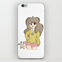 puppycat iPhone & iPod Skins featuring Bee and Puppycat by Lyndie Witt