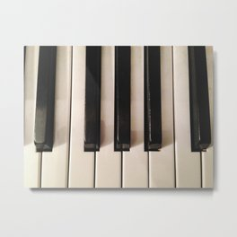 old piano keyboard Metal Print