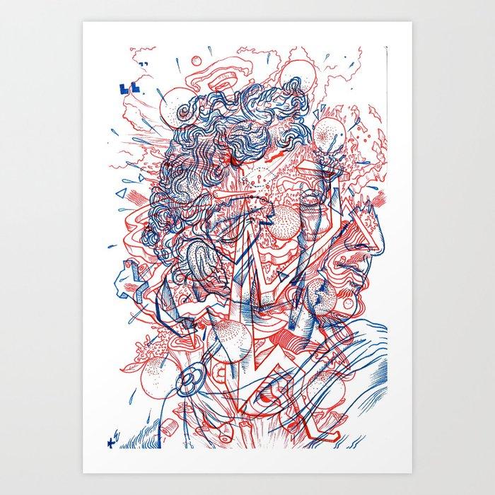 exploding exploded Art Print