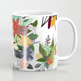 Colorful Mix Flower Bouquet Pattern Coffee Mug