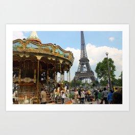 Carrousel à Paris Art Print
