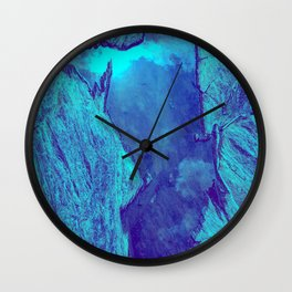 Blue Gorge Wall Clock