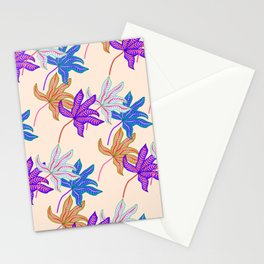 colourful autumn leaves Stationery Cards