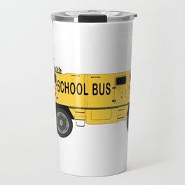 Armored Yellow School Bus Anti-Weapon Tank Travel Mug