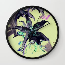 black orchid Wall Clock