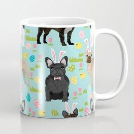 French Bulldog mixed coat easter eggs easter spring themed dog art pet portraits Coffee Mug