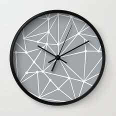 Ab Out Spots Grey Wall Clock