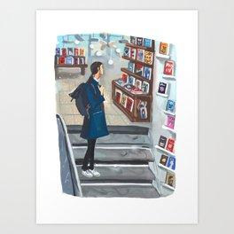 Bookstore Moment Art Print