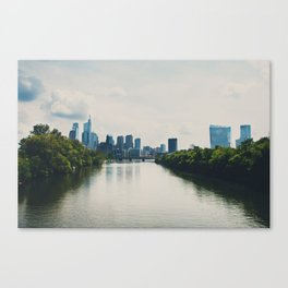 the Schuylikill River ...  Canvas Print