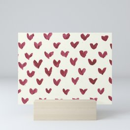 Watercolour Heart Pattern Mini Art Print