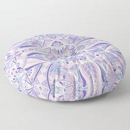 Pastel Purple Inverted Mandala Floor Pillow