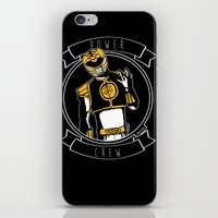 power ranger iPhone & iPod Skins featuring Power Crew White Ranger by zombieCraig by zombieCraig
