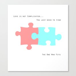 Puzzle Love Canvas Print