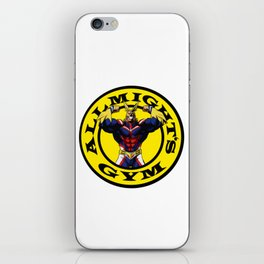 Allmight Boku No Hero My Hero Academia Golds gym iPhone Skin