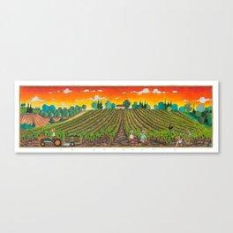 LA VENDEMMIA IN TOSCANA - the grape harvest in tuscany Canvas Print