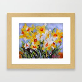 Daffodil Tangle Framed Art Print
