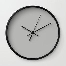 Solid Gray Cloud Color Wall Clock