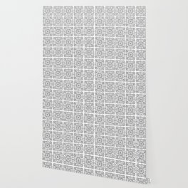 Abstracted doily - Pattern of snowflake crochet Wallpaper