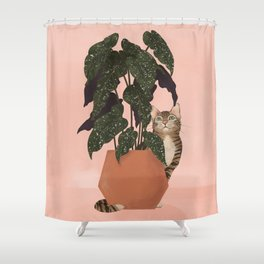 tiger at heart Shower Curtain