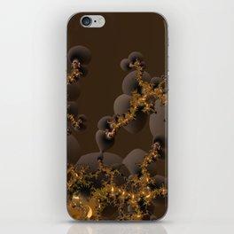Organic Explosion of Chocolates - Fractal Golden Lava iPhone Skin