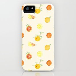 Citrus Fruits Print iPhone Case