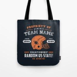Generic Football T-Shirt Tote Bag
